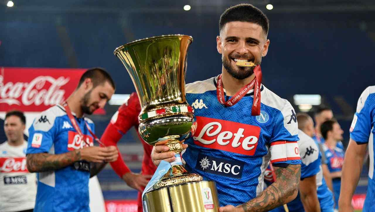 Insigne alza la Coppa Italia