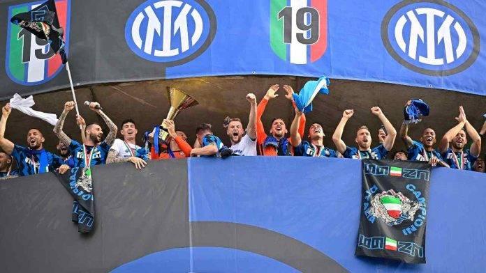 La festa dell'Inter per lo scudetto