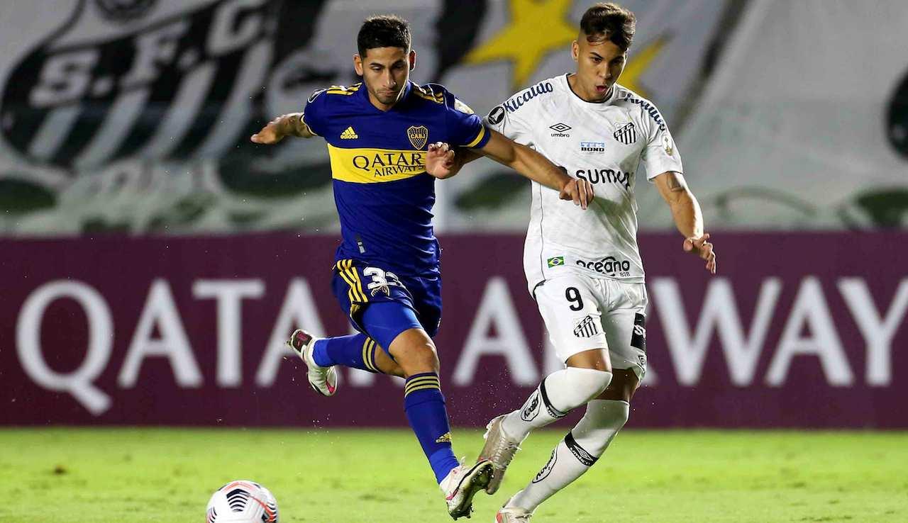 Kaio Jorge duello in Boca Juniors-Santos