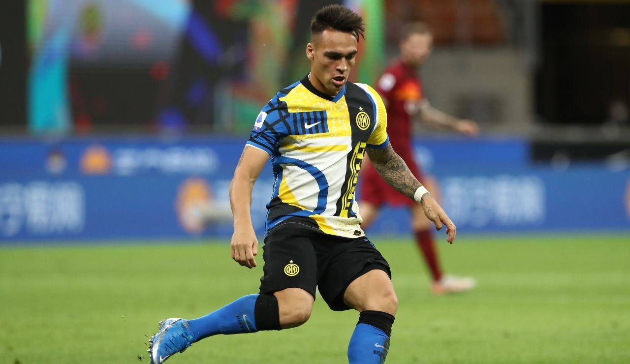 Martinez in azione con la nuova maglia dell'Inter