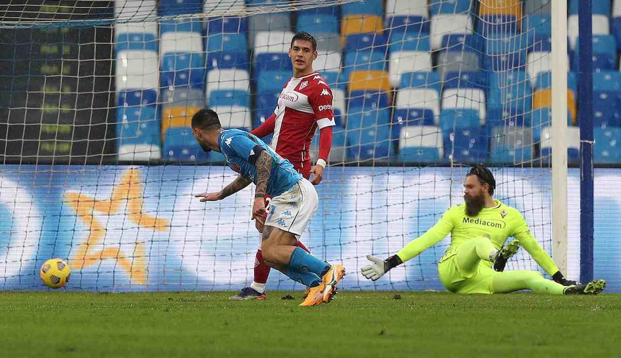 Politano fa gol in Napoli Fiorentina