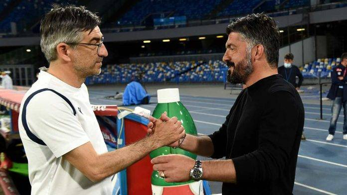 Juric e Gattuso si salutano