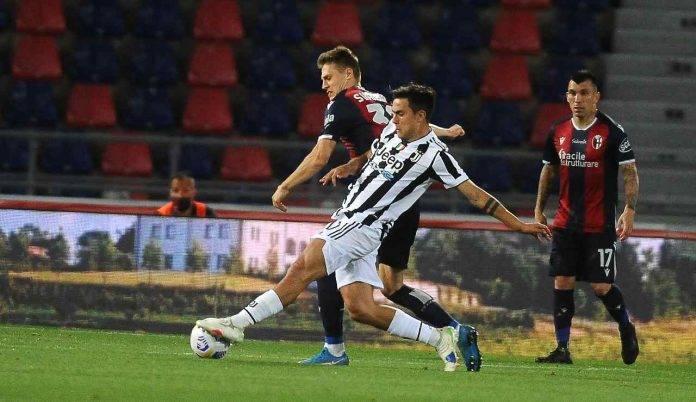 Dybala in azione contro il Bologna