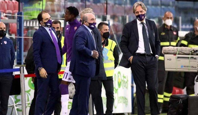 Rocco Commisso Fiorentina a bordo campo