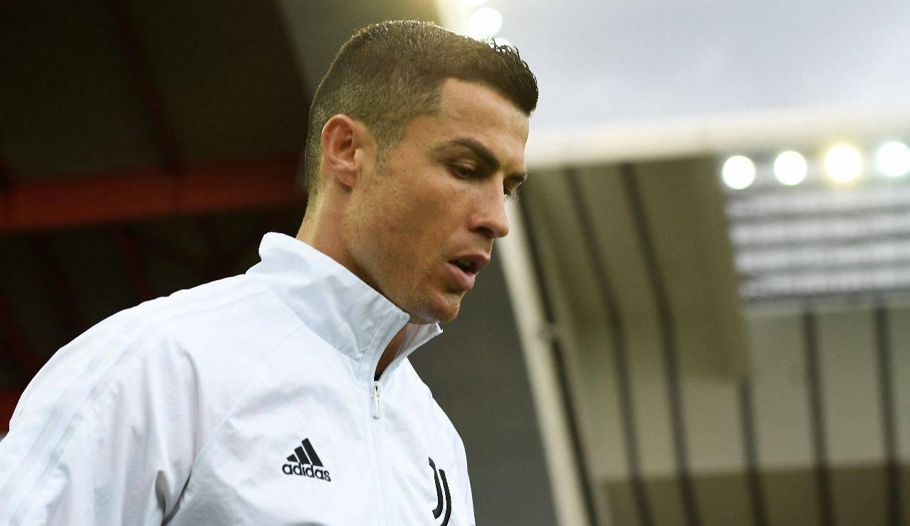 Cristiano Ronaldo entra in campo