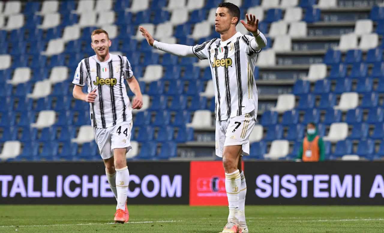 Ronaldo esulta dopo il gol