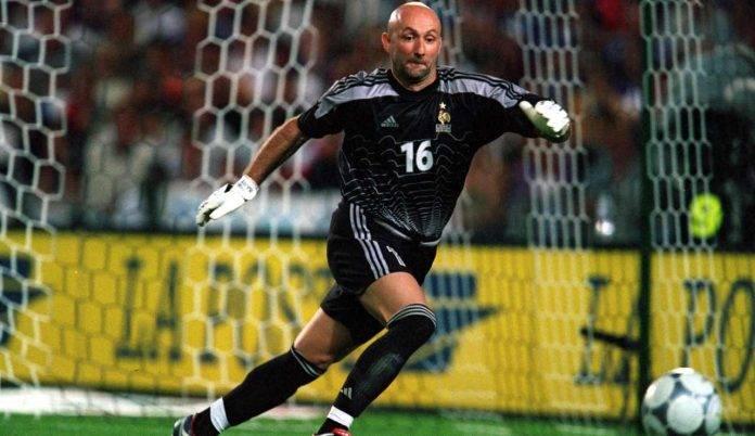 Barthez durante una partita della Francia