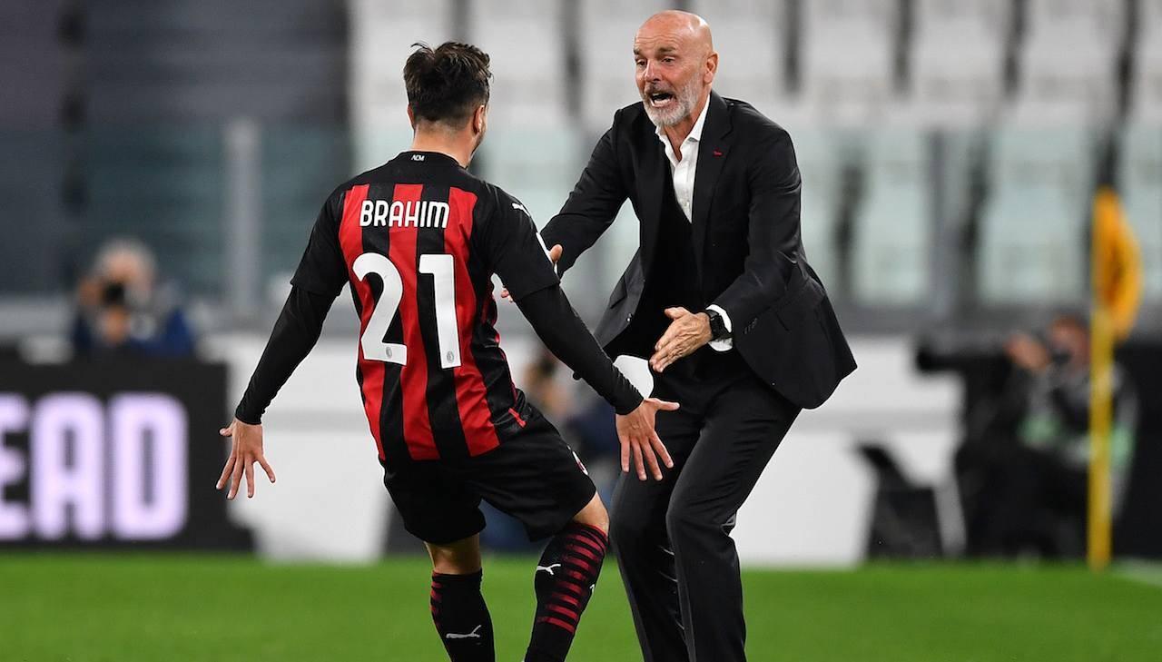 Brahim Diaz esulta dopo il gol contro la Juventus