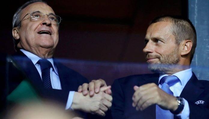 Ceferin e Florentino insieme in tribuna