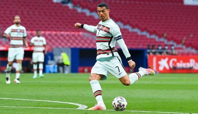 Cristiano Ronaldo in una recente amichevole del Portogallo