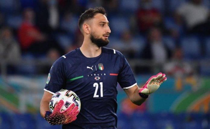 Gigio Donnarumma con la Nazionale