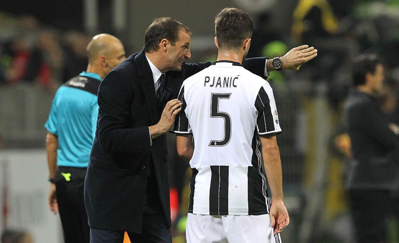 Allegri e Pjanic insieme alla Juventus