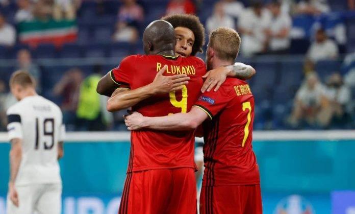 L'esultanza del Belgio dopo un gol