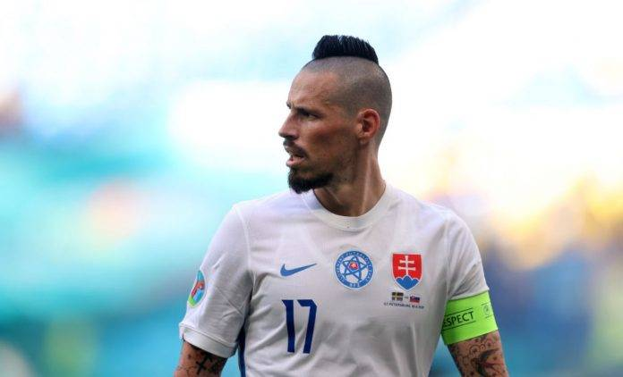 Hamsik con la maglia della Slovacchia