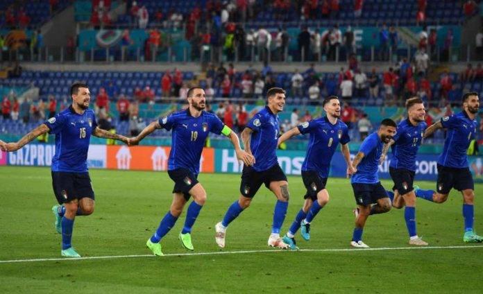 L'Italia festeggia la vittoria contro la Svizzera