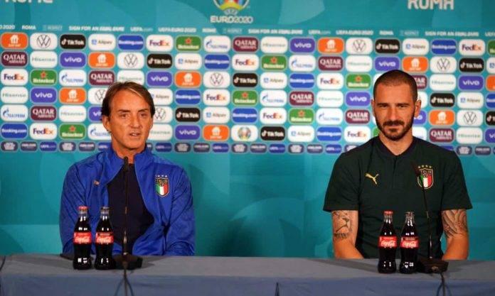 Mancini e Bonucci in conferenza stampa