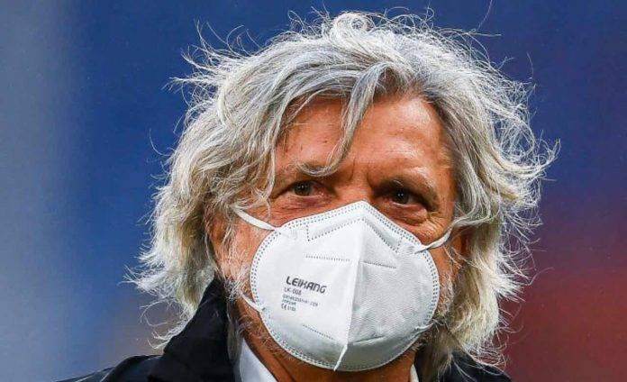Massimo Ferrero con mascherina