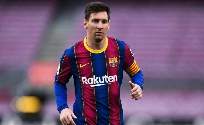 Messi con la maglia del Barcellona