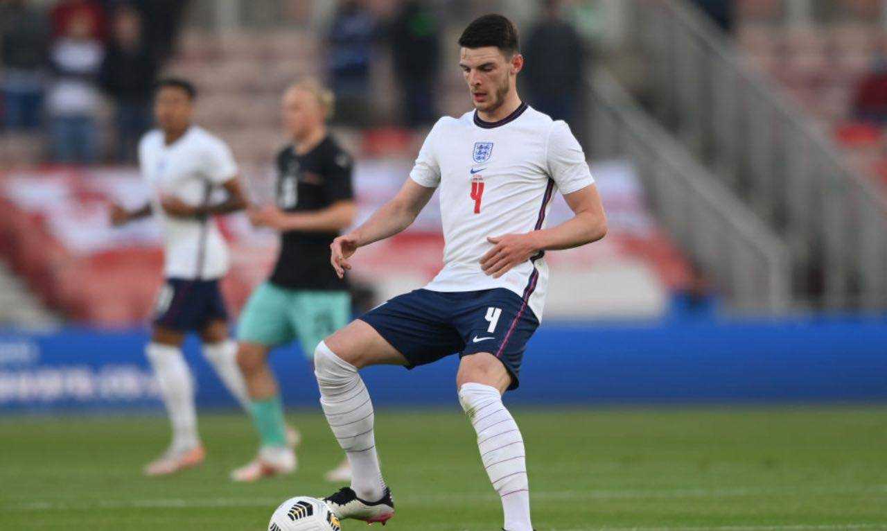 Declan Rice con la nazionale inglese