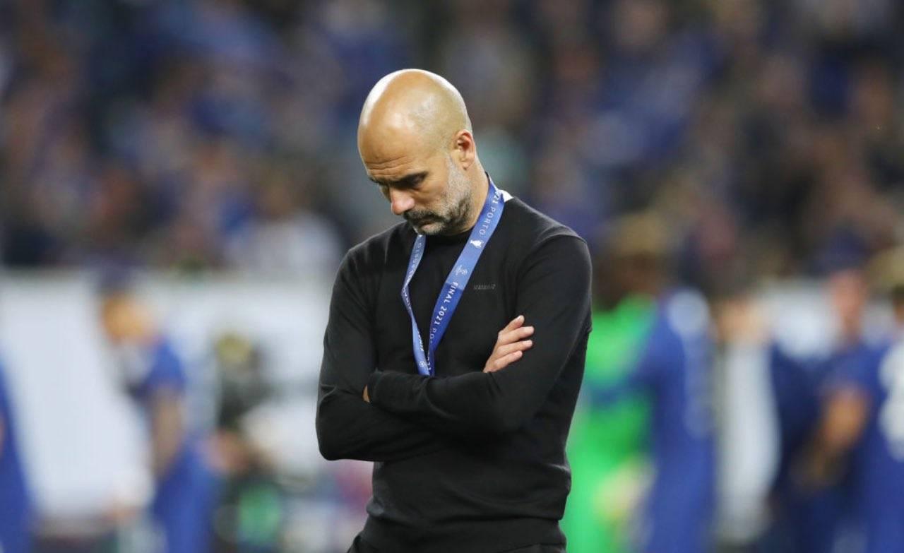 La delusione di Guardiola dopo la sconfitta in finale di Champions
