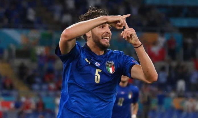 Locatelli festeggia un gol in Nazionale