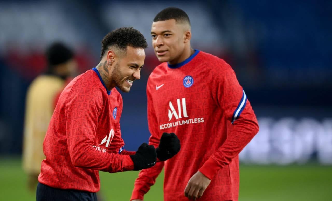 Neymar e Mbappé si allenano insieme