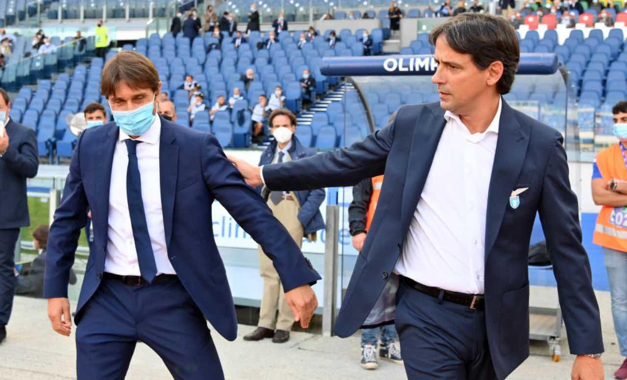 Conte e Simone Inzaghi si danno la mano