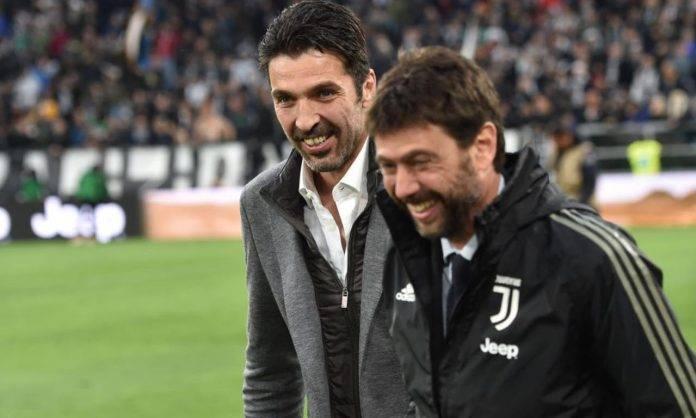 Agnelli e Buffon in campo