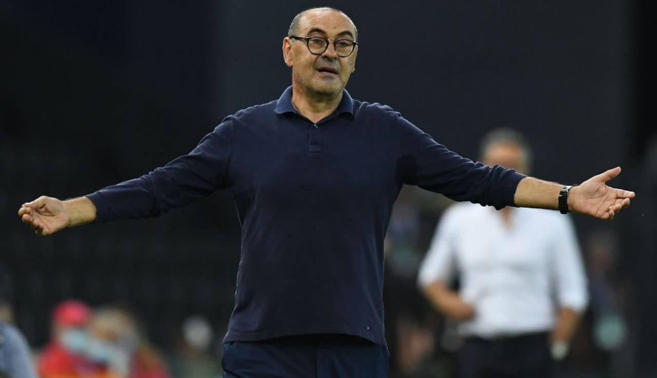 Sarri in panchina con la Juventus