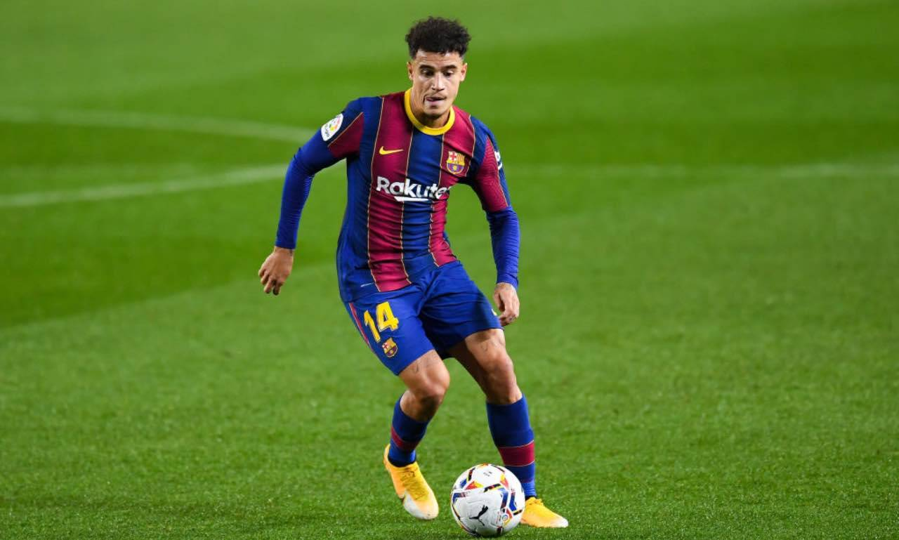 Coutinho in campo col Barcellona