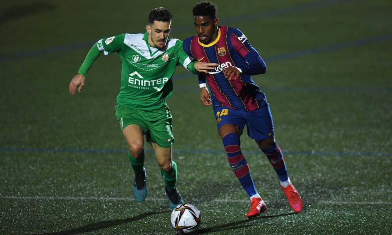 Junior Firpo in Cornella-Barcellona