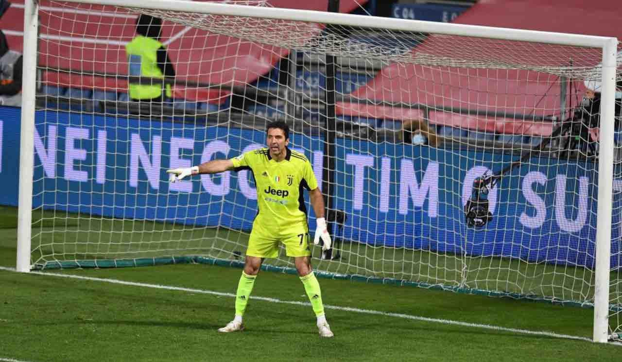 Buffon in Atalanta-Juventus