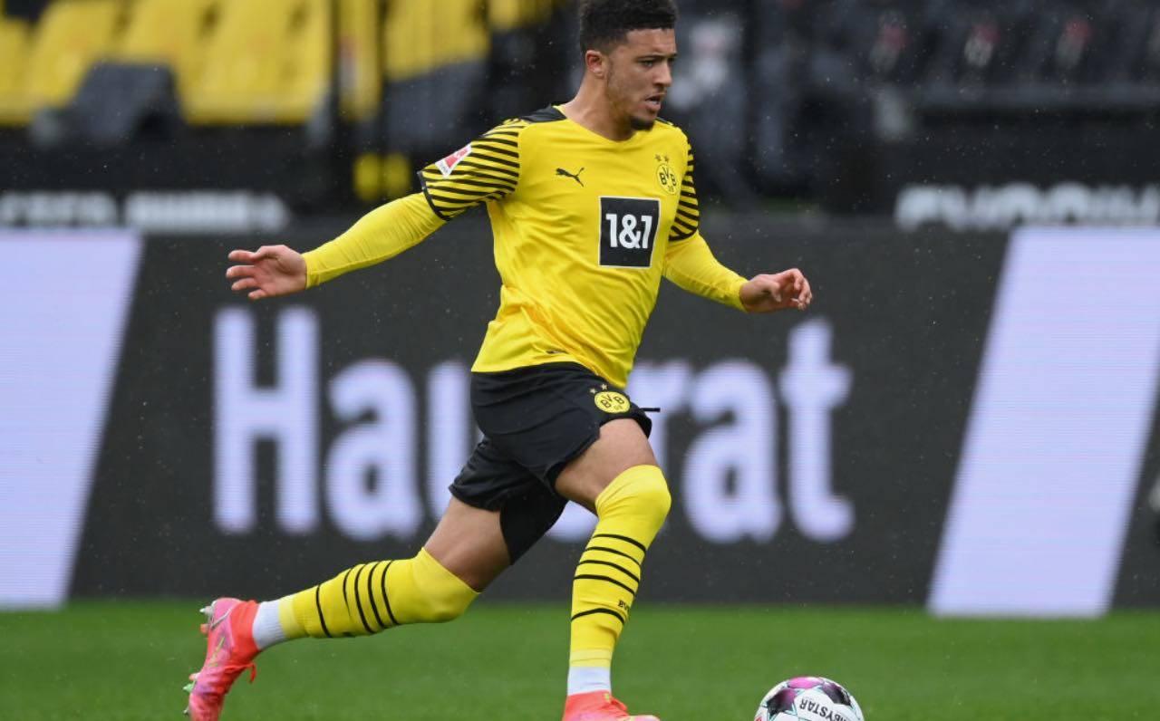 Sancho in azione col Borussia Dortmund