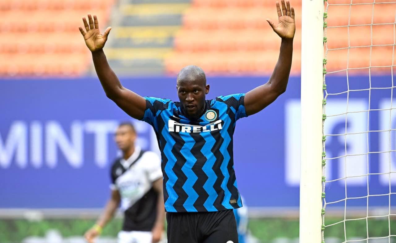 Lukaku dopo l'esultanza contro l'Udinese