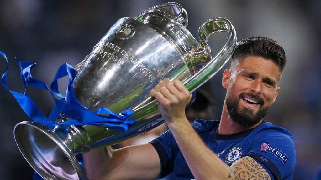 Giroud festeggia la Champions