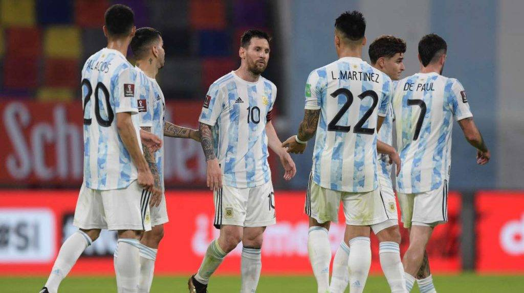 Messi con l'Argentina