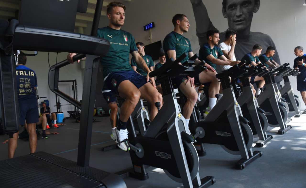 L'allenamento della Nazionale italiana