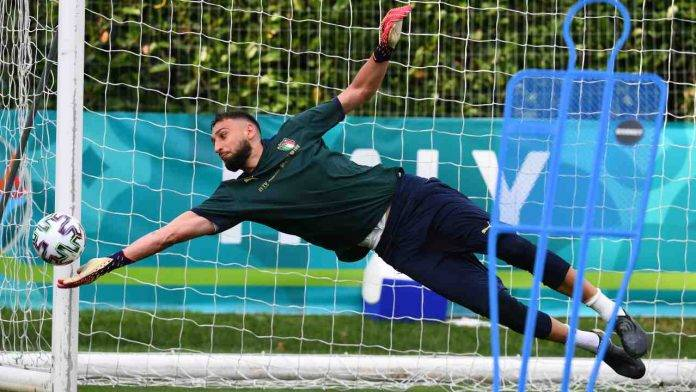 Gigio Donnarumma in nazionale