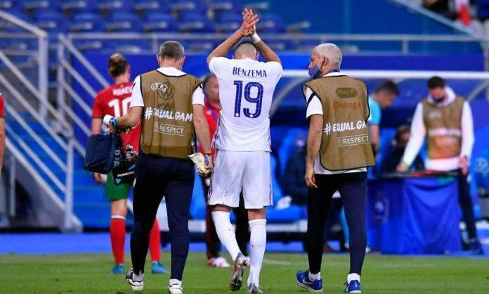 Benzema esce per infortunio