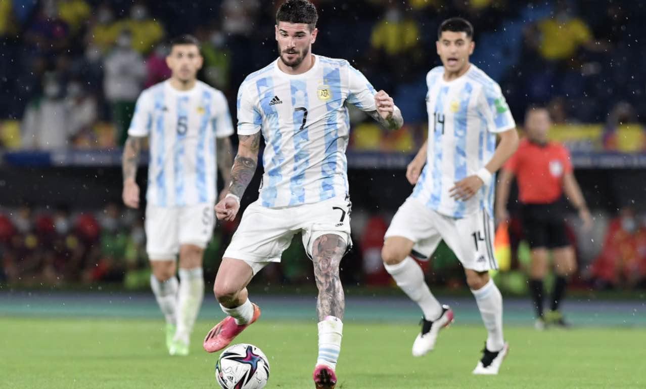 De Paul durante Colombia-Argentina