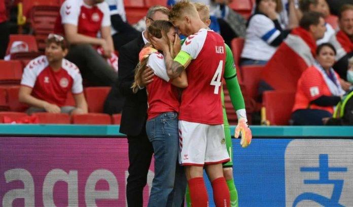 Kjaer consola la moglie di Eriksen