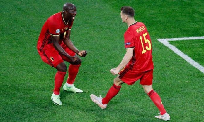Meunier e Lukaku durante Belgio-Russia