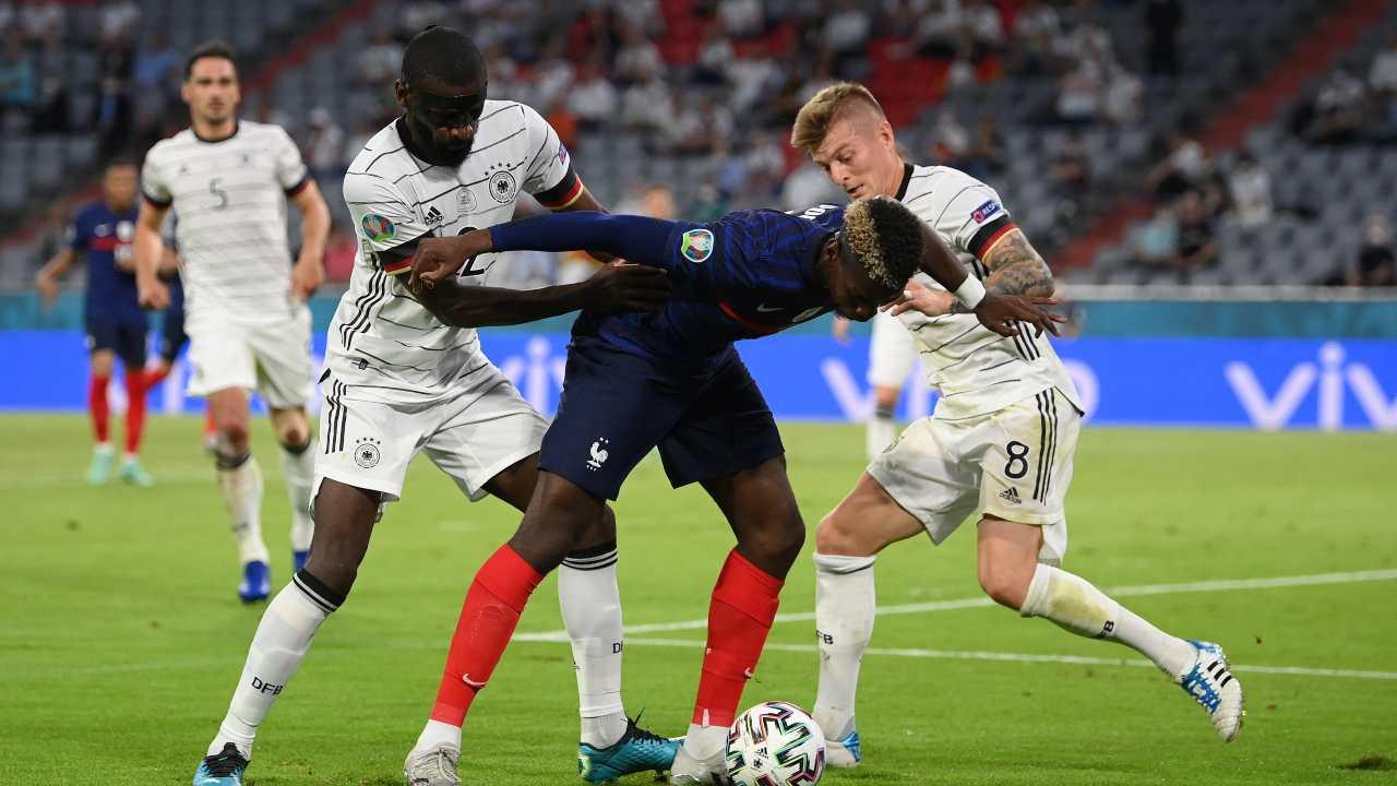Francia e Germania in campo