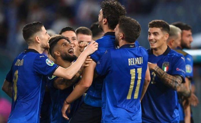 L'esultanza dell'Italia a EURO2020