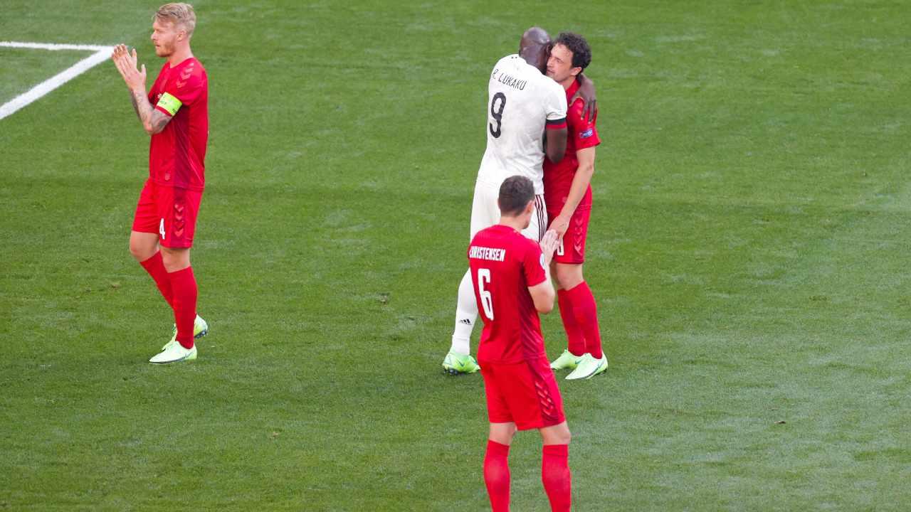 Danimarca-Belgio in campo