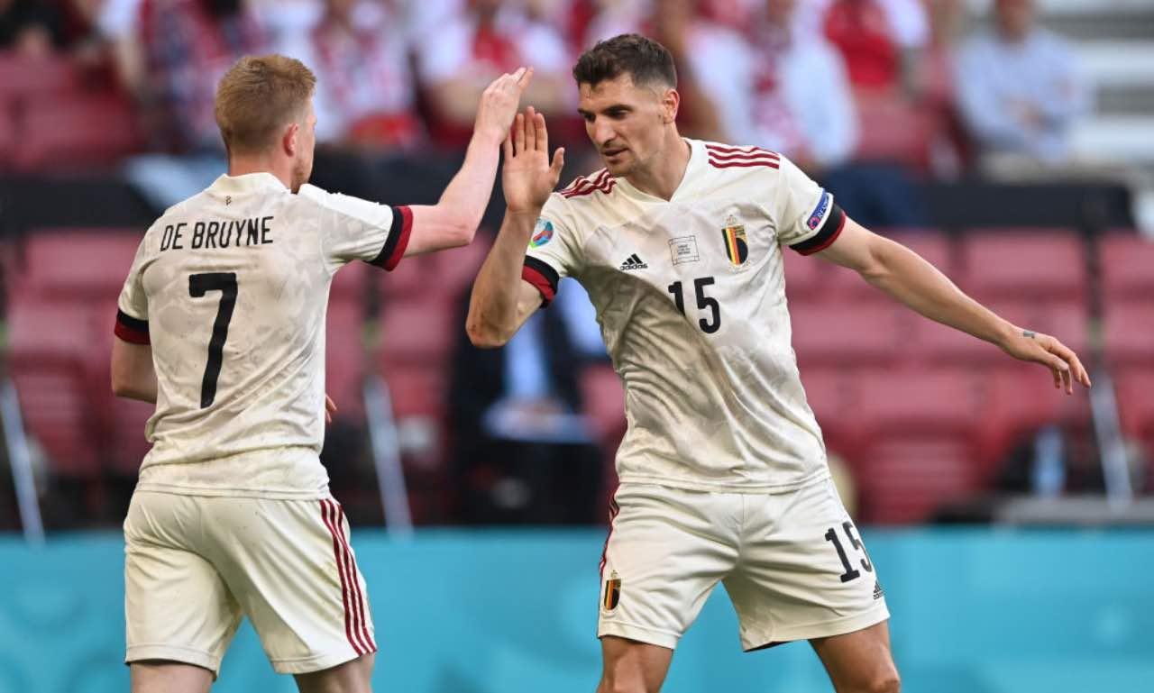 De Bruyne e Meunier in EURO 2020