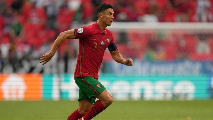 Cristiano Ronaldo in azione