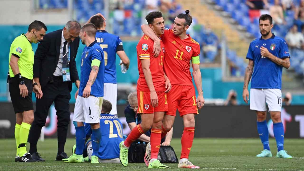 Italia-Galles in campo