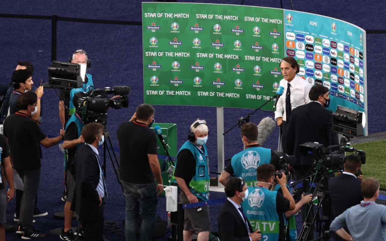 Mancini alla stampa dopo Italia-Galles