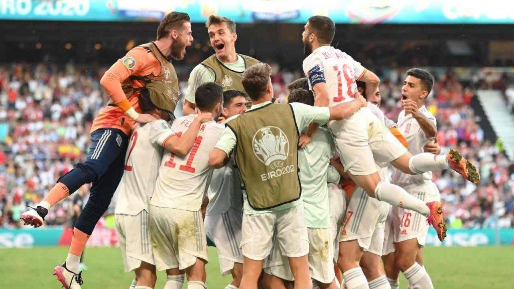 spagna esulta ottavi croazia gol